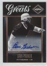 2011 Panini Limited Greats Signatures Autographed #20 Dave Parker Auto Card