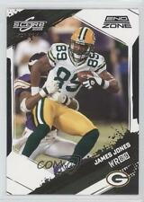 2009 Score Inscriptions End Zone 108 James Jones Green Bay Packers Football Card