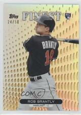 2013 Topps Finest Gold Refractor #56 Rob Brantly Miami Marlins Baseball Card