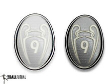 UEFA Champions League Badge of Honor 9 times Trophy Gray Patch for Real Madrid