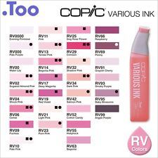 """Copic Various Ink """"RV(Red Violet) Color Series""""Refill for Too Sketch and Ciao"""