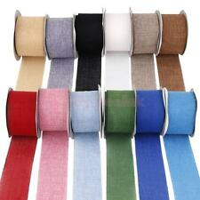 Various Color Faux Jute Hessian Burlap Upholstery Furniture Wedding Ribbon Craft