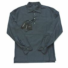 NWT $625 Dolce & Gabbana Men's Gray Geometric Woven Pullover Shirt M AUTHENTIC