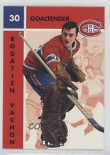 1995-96 Parkhurst 1966-67 Design #75 Rogie Vachon Montreal Canadiens Hockey Card