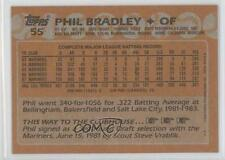 1988 Topps Blank Front #55 Phil Bradley Seattle Mariners Baseball Card