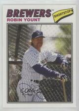 2012 Topps Archives 1977 Cloth Patches 77C-RY Robin Yount Milwaukee Brewers Card