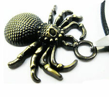 Spider  Pendant  Leather  Jewelry New Cool Necklace  Stainless Steel Unisex