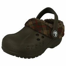BOYS CHOCOLATE CROCS BLITZEN WINTER PLAID KIDS