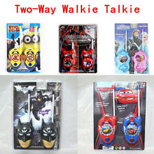 Cute Movie Figures Walkie Talkie Two-Way Radio Phone Set Kids Boy Girl Toy Gift