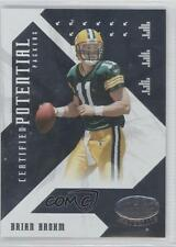 2008 Leaf Certified Materials Potential CP-13 Brian Brohm Green Bay Packers Card