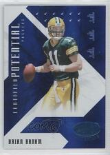2008 Leaf Certified Materials Potential Blue CP-13 Brian Brohm Green Bay Packers