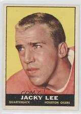 1961 Topps #148 Jacky Lee Houston Oilers RC Rookie Football Card