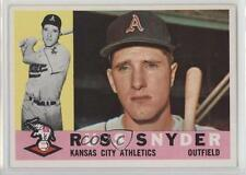 1960 Topps #81 Russ Snyder Kansas City Athletics RC Rookie Baseball Card