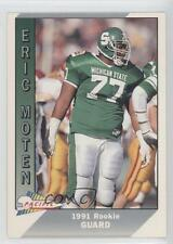 1991 Pacific #543 Eric Moten Michigan State Spartans Rookie Football Card