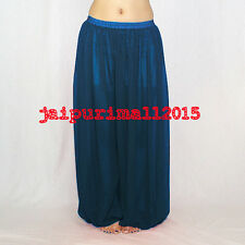Dark Teal Chiffon Harem Yoga Pants Genie Boho Aladdin Belly Dance Harem S~3XL