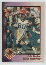 1992 Wild Card Field Force #28 Cris Carter Minnesota Vikings Football