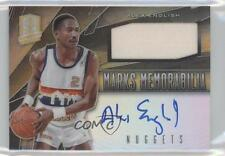 2013 Panini Spectra Marks Memorabilia Gold #13 Alex English Denver Nuggets Auto
