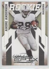 2010 Panini Epix Silver #103 Andre Anderson Oakland Raiders Rookie Football Card