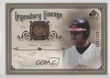 2005 SP Legendary Cuts Lineage #LE-BL Barry Larkin Cincinnati Reds Baseball Card