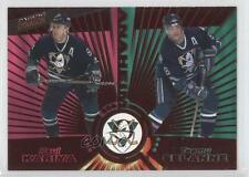 1997-98 Pacific Dynagon Red #135 Paul Kariya Teemu Selanne Hockey Card