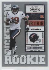 2010 Playoff Contenders Ticket #133 Dorin Dickerson Houston Texans Football Card