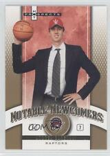 2006 Fleer Hot Prospects Notable Newcomers NN-AB Andrea Bargnani Toronto Raptors