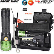6000LM CREE XML L2 LED Scuba UV Outdoor Camping Hiking Flashlight Torch Kits UK