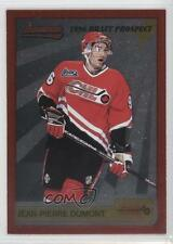 1995 Bowman Draft Prospects P13 Jean-Pierre Dumont Val d'Or Foreurs (QMJHL) Card