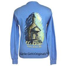 "Girlie Girl Originals ""The House"" Carolina Blue Long Sleeve Unisex Fit T-Shirt"