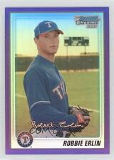 2010 Bowman Chrome Prospects Purple Refractor #BCP219 Robbie Erlin Texas Rangers