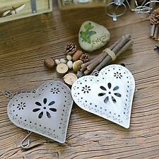 Shabby Chic Hanging Metal Love Heart Hanger Decoration Christmas Ornaments Gift