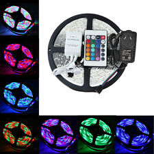 5M-50M 3528 RGB 300 Leds SMD LED Strip Light Flexible Controller Power Supply