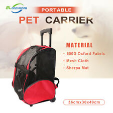 Portable Pet Soft Crate Dog Cat Carrier Airline Travel Backpack Trolley Carrier