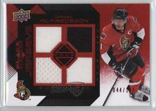 2008-09 Upper Deck Black Diamond Quad Jerseys Ruby BDJ-DA Daniel Alfredsson Card
