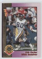 1992 Wild Card Field Force Gold #28 Cris Carter Minnesota Vikings Football