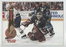1994-95 Pinnacle #15 Guy Hebert Anaheim Ducks (Mighty of Anaheim) Hockey Card