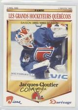 1992 Panini Diana/Durivage Les Grands Hockeyeurs Quebecois #46 Jacques Cloutier