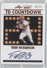 2012 Ultimate Leaf Draft TD Countdown #TDC-TR1 Trent Richardson Auto Rookie Card