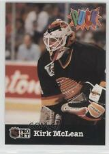 1991-92 Pro Set Puck Prototypes #KIMC Kirk McLean Vancouver Canucks Hockey Card