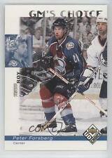 1998-99 Upper Deck UD Choice #229 Peter Forsberg Colorado Avalanche Hockey Card