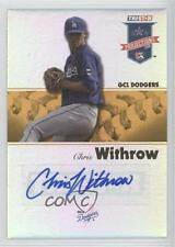 2008 TRISTAR PROjections #52 Chris Withrow GCL Dodgers Auto Rookie Baseball Card