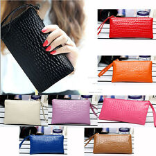 Fashion Lady Women Leather Clutch Wallet Zip Long Card Holder Case Purse Handbag