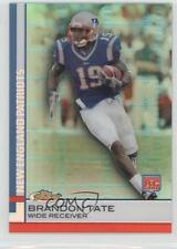 2009 Topps Finest Green Refractor #97 Brandon Tate New England Patriots Card