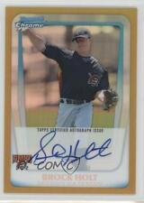 2011 Bowman Chrome #BCP212 Brock Holt Pittsburgh Pirates Auto Baseball Card
