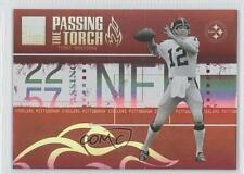 2005 Donruss Elite Passing the Torch Red PT-7 Terry Bradshaw Pittsburgh Steelers