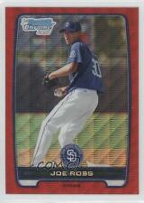 2012 Bowman Chrome Prospects Redemption Refractor Red Wave #BCP107 Joe Ross Card