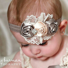 new  Baby Kids Toddler Infant Flower Rhinestone Headband Hair Accessories Band