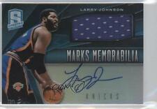 2013-14 Panini Spectra Marks Memorabilia Light Blue #6 Larry Johnson Auto Card