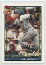 1991 Topps Factory Set Base Collector's Edition (Tiffany) 68 Gary Sheffield Card