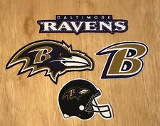 Iron On or Sew On Transfer Applique Baltimore Ravens Cotton Fabric Patch Set